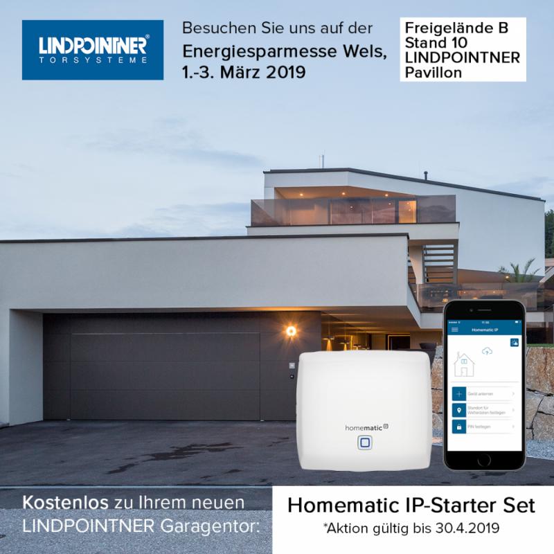 smart home aktion bis 30 lindpointner torsysteme. Black Bedroom Furniture Sets. Home Design Ideas