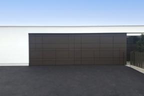 Garagentor Deckensektionaltore Aluminium LS4000 modern für Verkleidung ger.