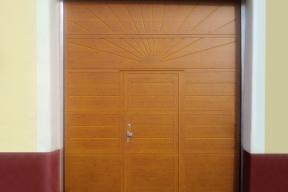 Garagentore Deckensektionaltore Aluminium LS4000 klassisch Sonne Holz