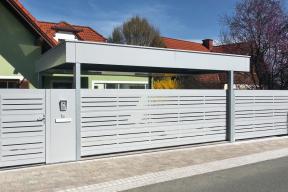 Garagentore Deckensektionaltore Aluminium LS4000 modern Carport