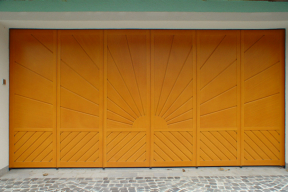 Garagentore Seitensektionaltore Aluminium LSS4000 klassisch Holz Sonne