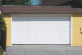 Garagentore Seitensektionaltore Aluminium LSS4000 modern weiß