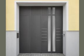 Garagentore Seitensektionaltore Aluminium LSS4000 anthrazit Design