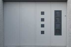Garagentore Seitensektionaltore Aluminium LSS4000 modern grau Design