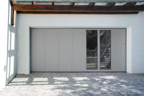 Garagentore Seitensektionaltore Aluminium LSS4000 grau Glas