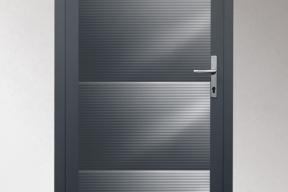 Garagentüren Paneeltüren TS4000 modern Welle anthrazit RAL7016