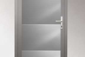 Garagentüren Paneeltüren TS4000 modern Welle grau RAL9006