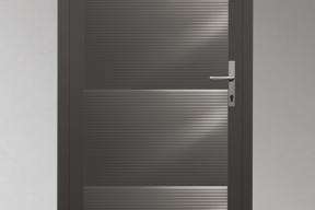 Garagentüren Paneeltüren TS4000 modern Welle grau RAL9007