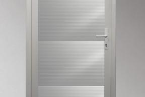 Garagentüren Paneeltüren TS4000 modern Welle weiß RAL9002