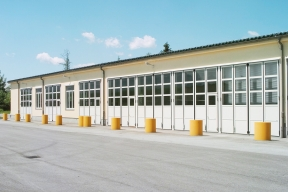 Industrietore Falttore Aluminium AL602F für Unternehmen