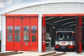 Industrietore Falttore Stahl ST602F Bahn