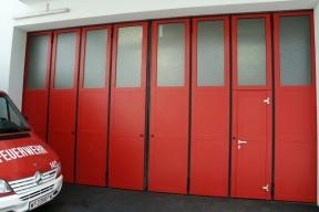 Industrietore Schiebefalttore Aluminium AL602SF Feuerwehr