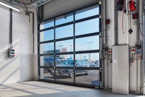 Industrietore Sektionaltore Aluminium DSTR40 Unternehmen Innenansicht-Tor