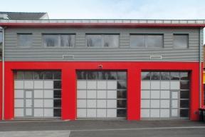 Industrietore Sektionaltore Aluminium DSTA40 Feuerwehrtore