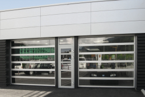 Industrietore Sektionaltore Aluminium DSTR-Panorama Autohaus