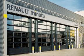 Industrietore Sektionaltore Aluminium DSTR40 Unternehmen Glas Verkaufsraum