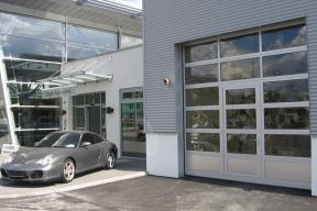 Industrietore Sektionaltore Aluminium DSTR40 Unternehmen Glas