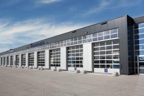 Industrietore Sektionaltore Aluminium DSTR60 Unternehmen Energy Glas