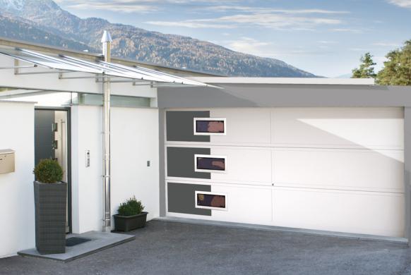 Garagentore Deckensektionaltore Aluminium LS4000 modern Motiv Unico