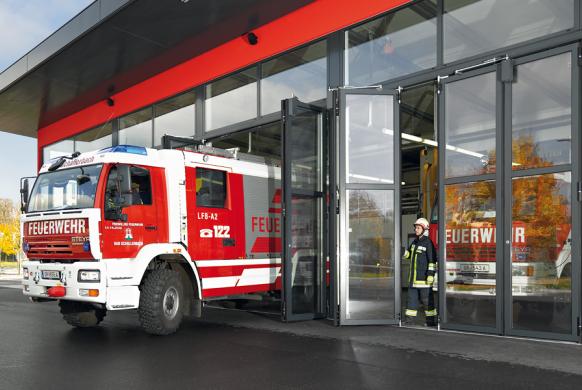 Industrietore Falttore Aluminium AL603F thermisch getrennt für Feuerwehrtore