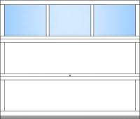 bis BB 3000mm 3 Fensterfelder; bis BH 2375mm 3 Sektionen