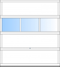 bis BB 3000mm 3 Fensterfelder; ab BH 2375mm 4 Sektionen