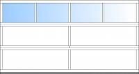 bis BB 4500mm 4 Fensterfelder; bis BH 2375mm 3 Sektionen