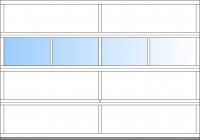 bis BB 4500mm 4 Fensterfelder; ab BH 2375mm 4 Sektionen