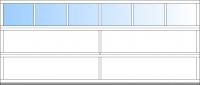 ab BB 4500mm 6 Fensterfelder; bis BH 2375mm 3 Sektionen