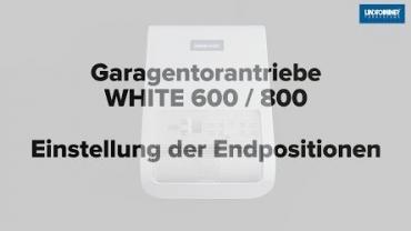 WHITE 600/800 | Endpositionen AUF/ZU und Lernfahrten