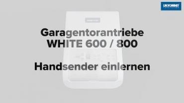 WHITE 600/800 | Handsender einlernen