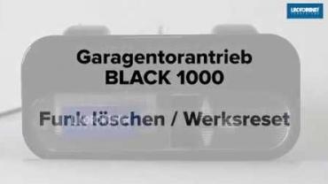 BLACK 1000 | Funk löschen und Werksreset